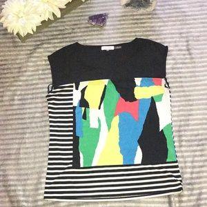 Calvin Klein abstract top